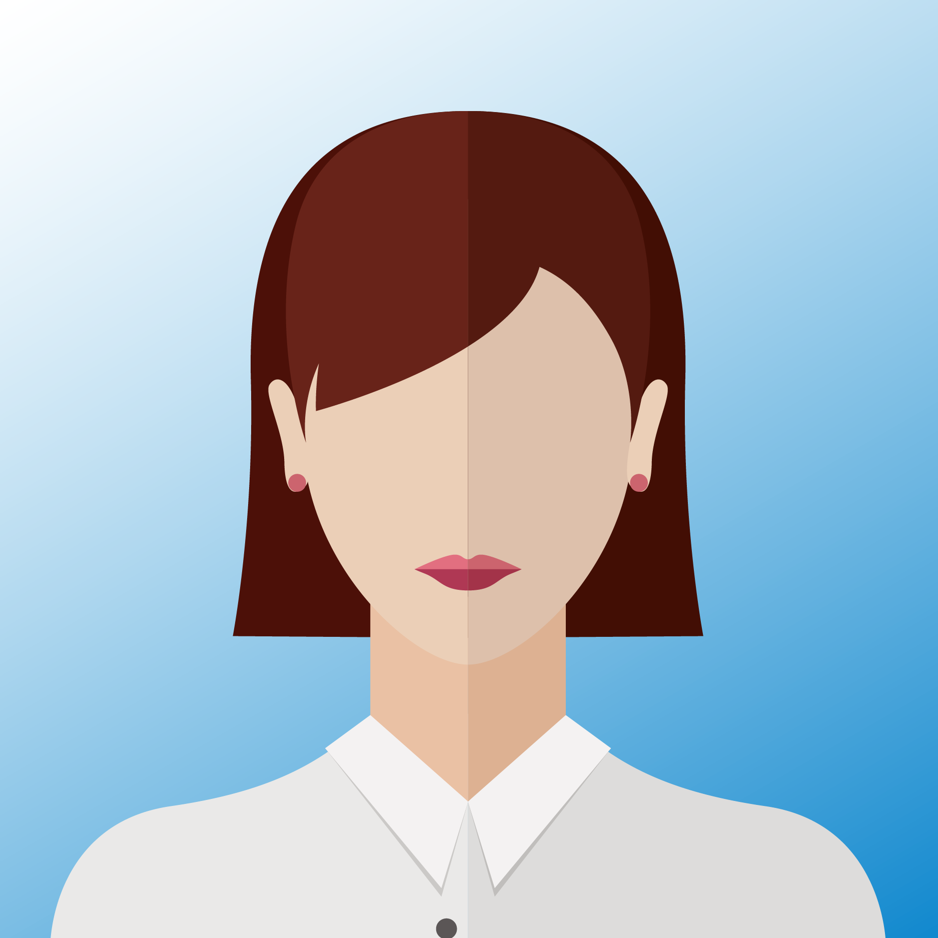 vector of woman with brown hair