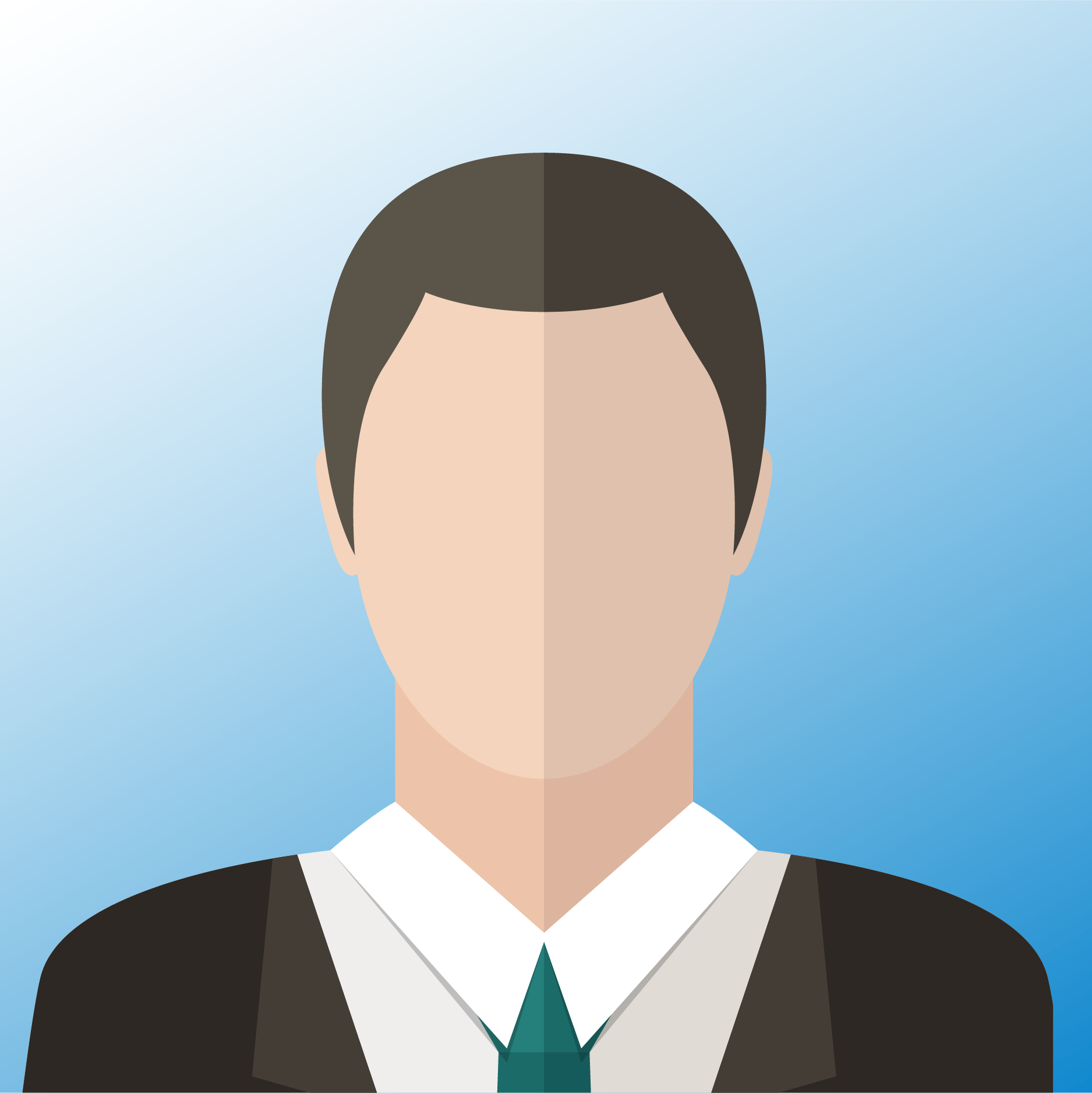 vector of man with black hair