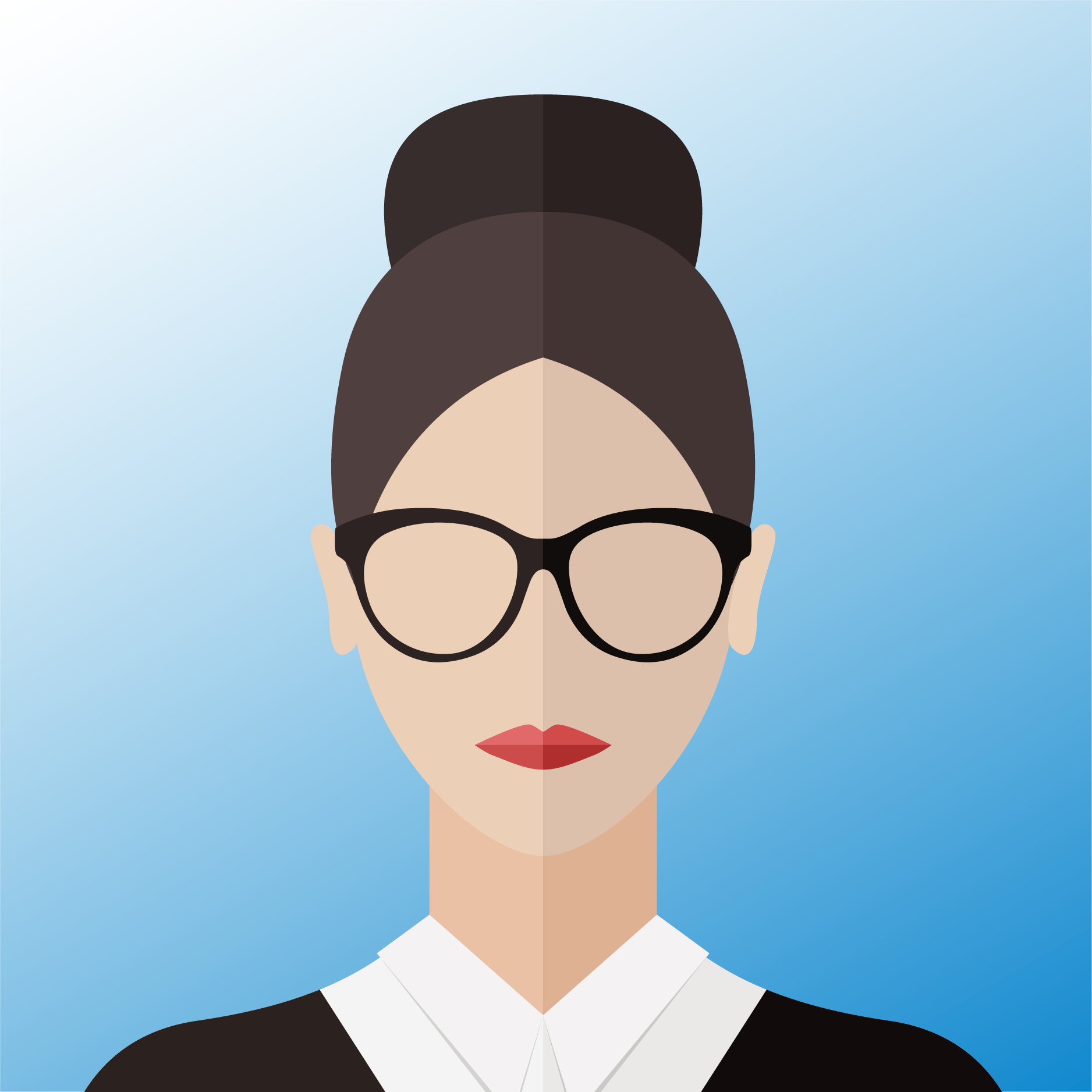 vector of woman with glasses